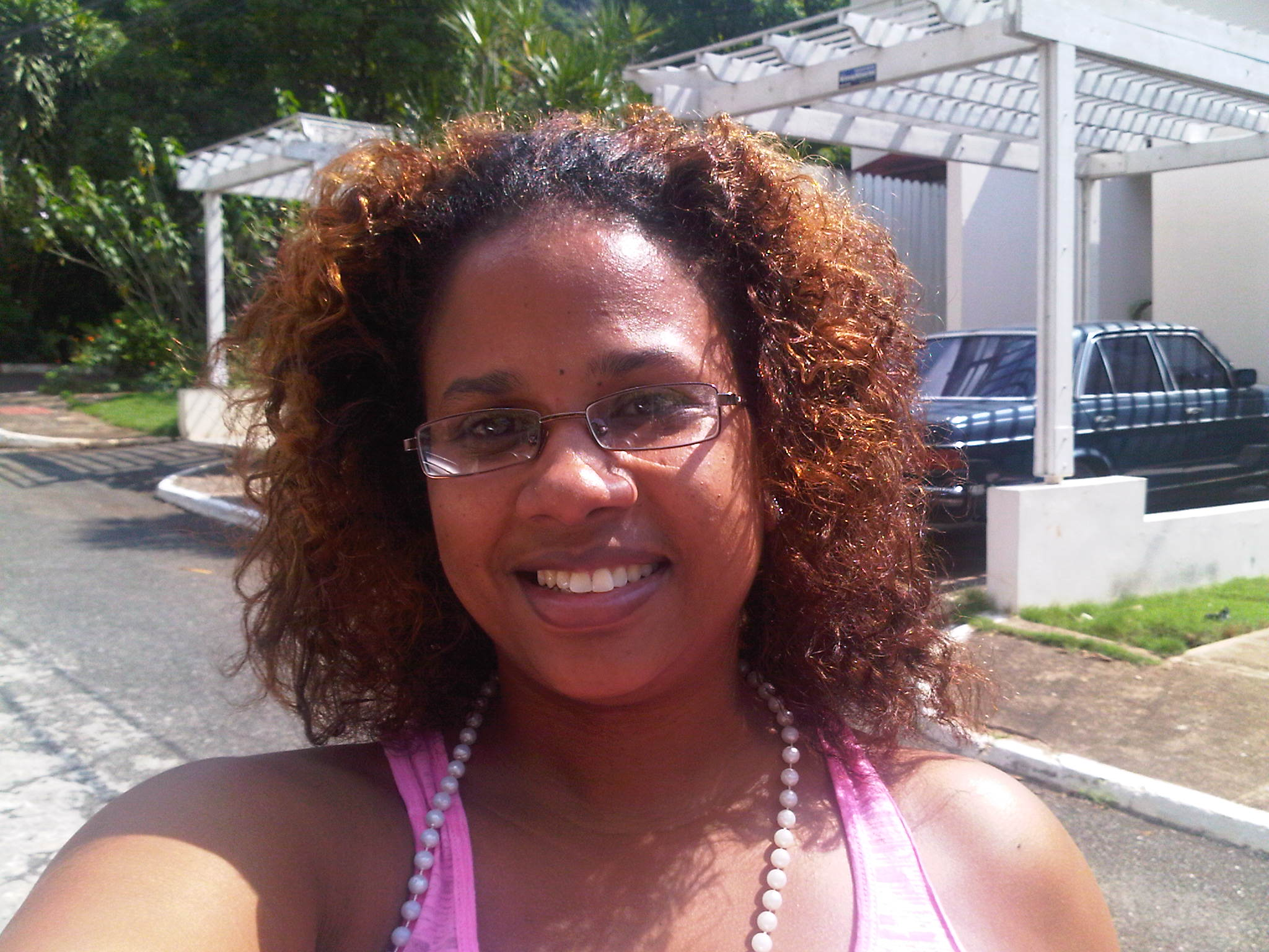 A Braid Out On Mostly Relaxed Transitioning Hair