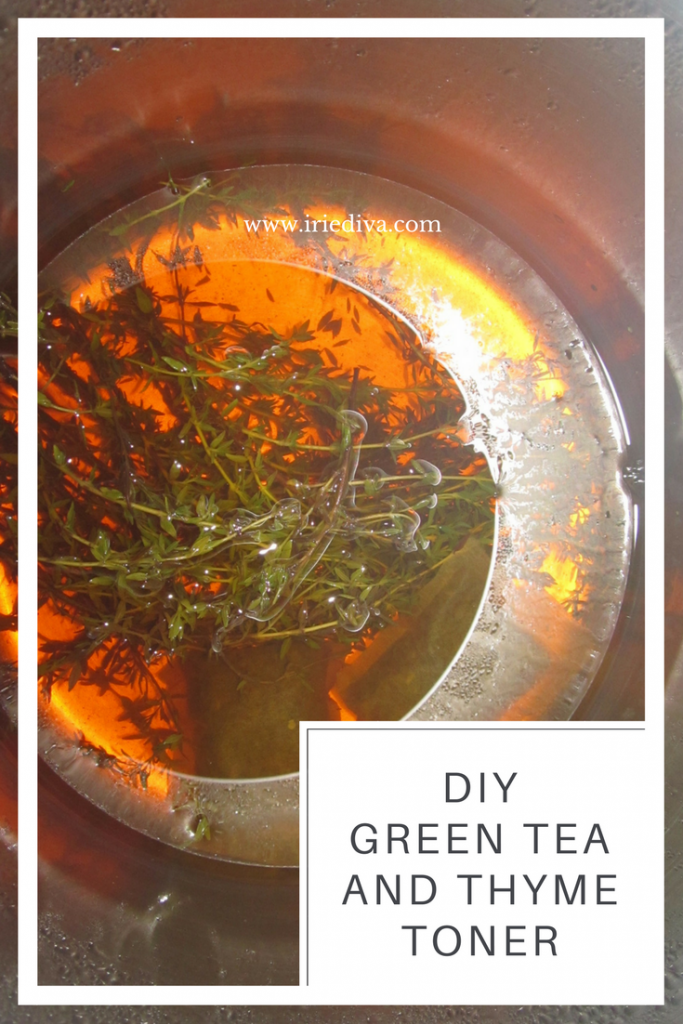 green tea and thyme toner