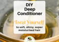 A deep conditioner with aloe vera, honey, avocado, yoghurt and shea butter for soft, shiny, super moisturized hair.