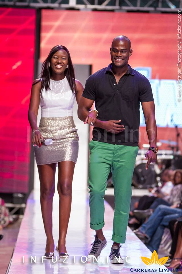 Supermodel Oraine Barrett and Pulse's Safia Cooper at Caribbean Fashion Week 2013