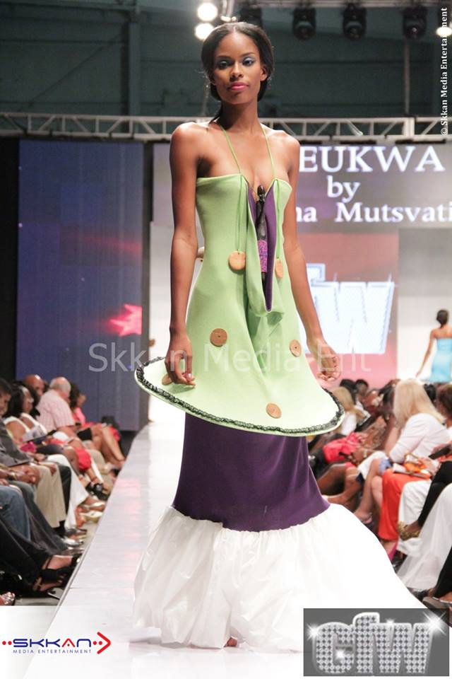 Sabina Mutsvati showing Cheukwa at Caribbean Fashion Week 2013