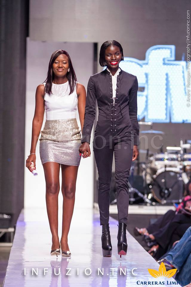 Supermodel Jeneil Wiliams and Pulse's Safia Cooper at Caribbean Fashion Week 2013