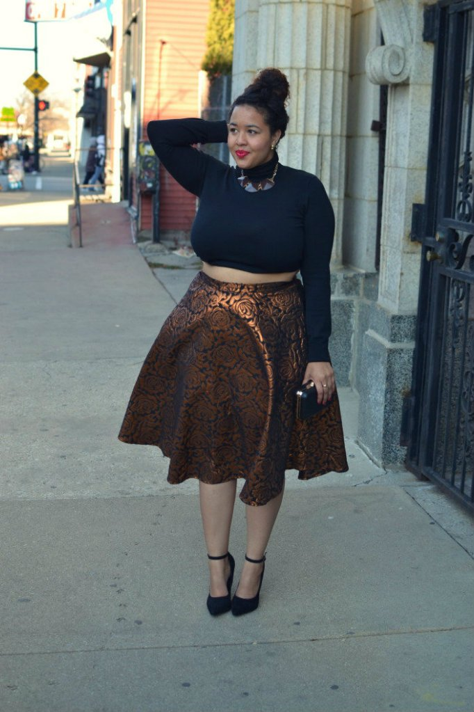 Gabi Fresh in midi skater skirt