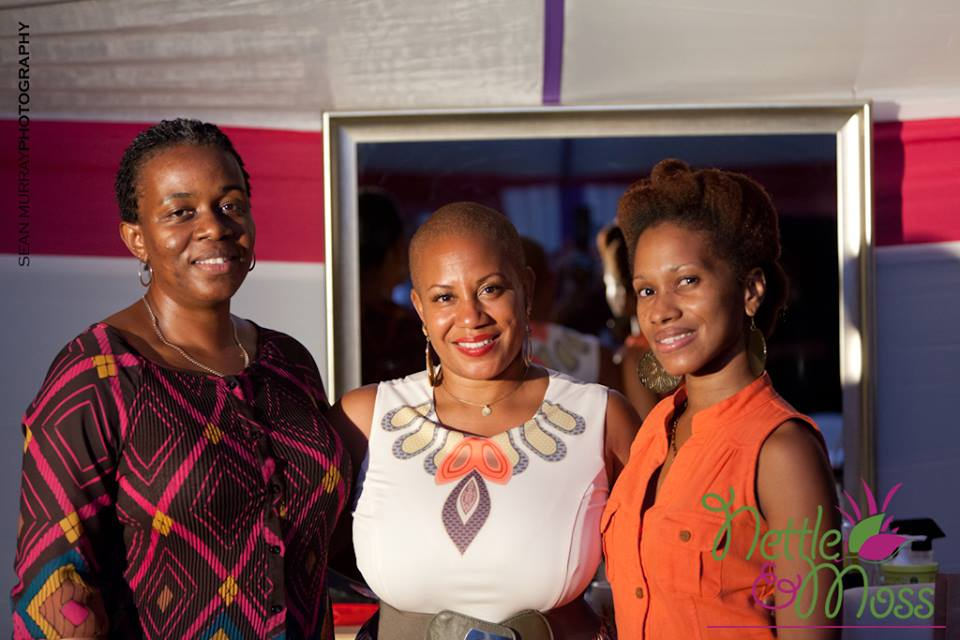 Felicia with winners of big chop and styling session