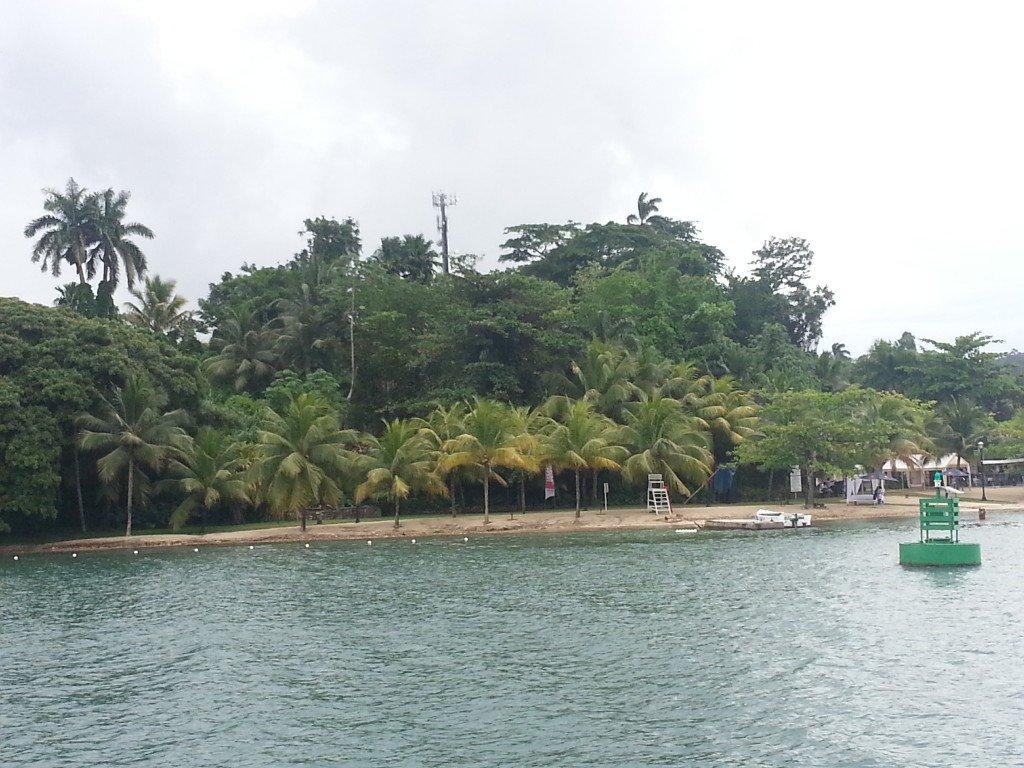 Leaving the Errol Flynn Marina to explore the deep Caribbean blue