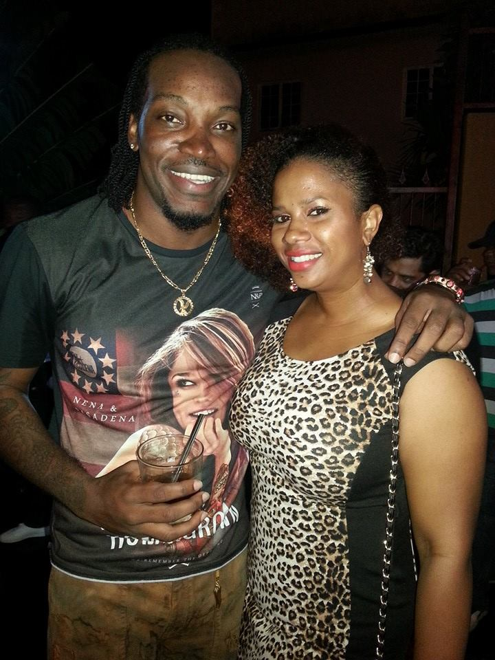 Chris Gayle and IrieDiva