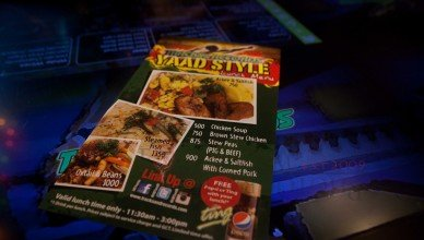 Yaad Style Menu at Usain Bolt's Tracks and Records
