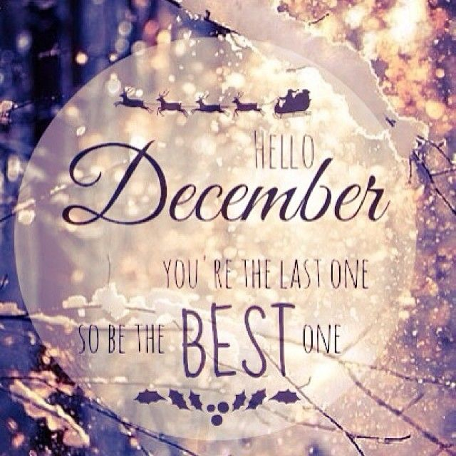 Hello December, Let's Be Friends