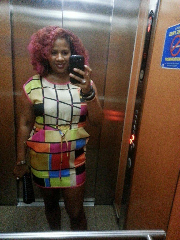 Pink Dress, Pink Natural Hair OOTD