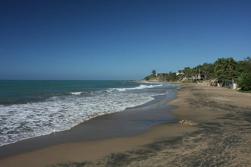 Treasure Beach, black sand beach on Jamaica's South Coast