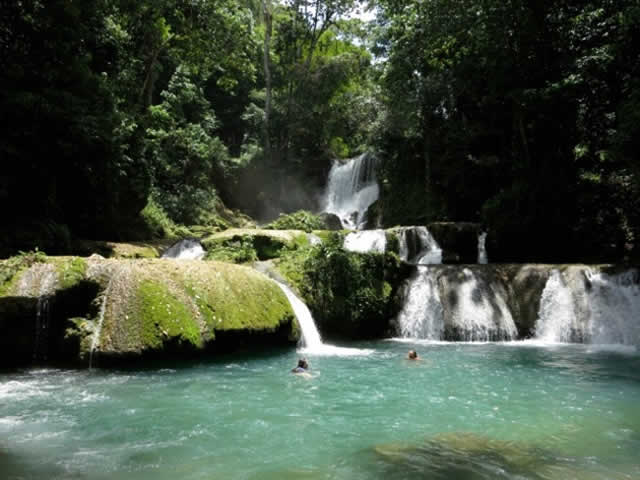 Natural pools at YS Falls