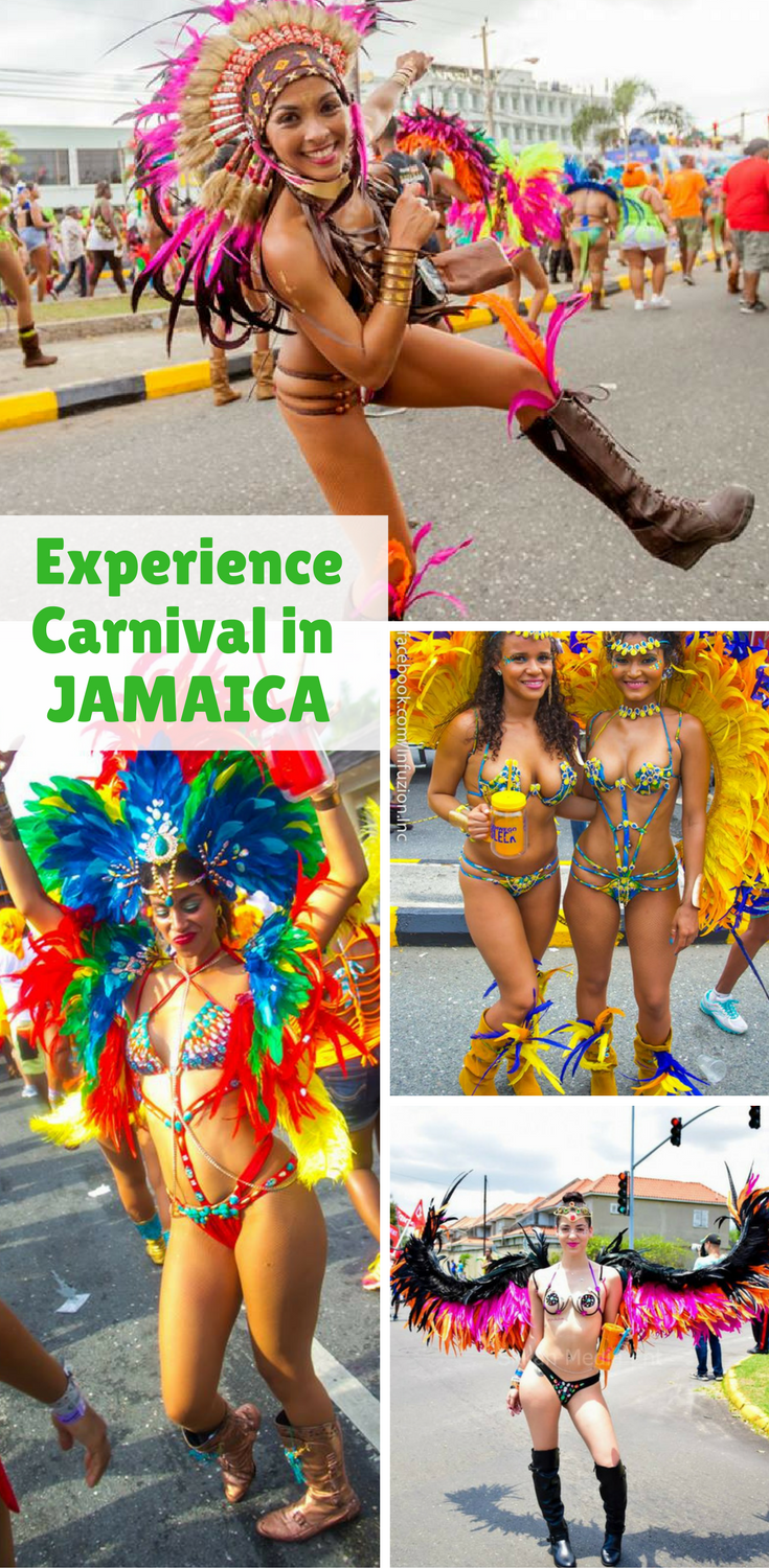 Experience Carnival in Jamaica as costumed revelers march through the streets of Kingston