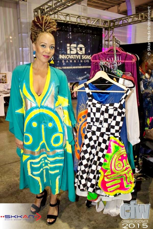 Paradise Prints by Fiona Compton of St. Lucia at Caribbean Fashion Week 2015