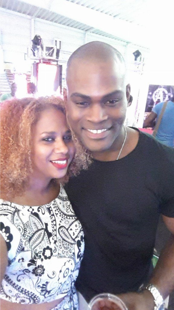 IrieDiva and Jamaican Super Model Oraine Barrett at Caribbean Fashion Week 2014