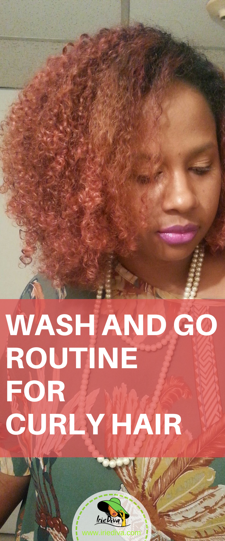 Wash and go routine for soft, bouncy, shiny, natural hair curls.