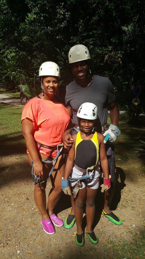 Getting ready to ZipLine at Y.S. Falls