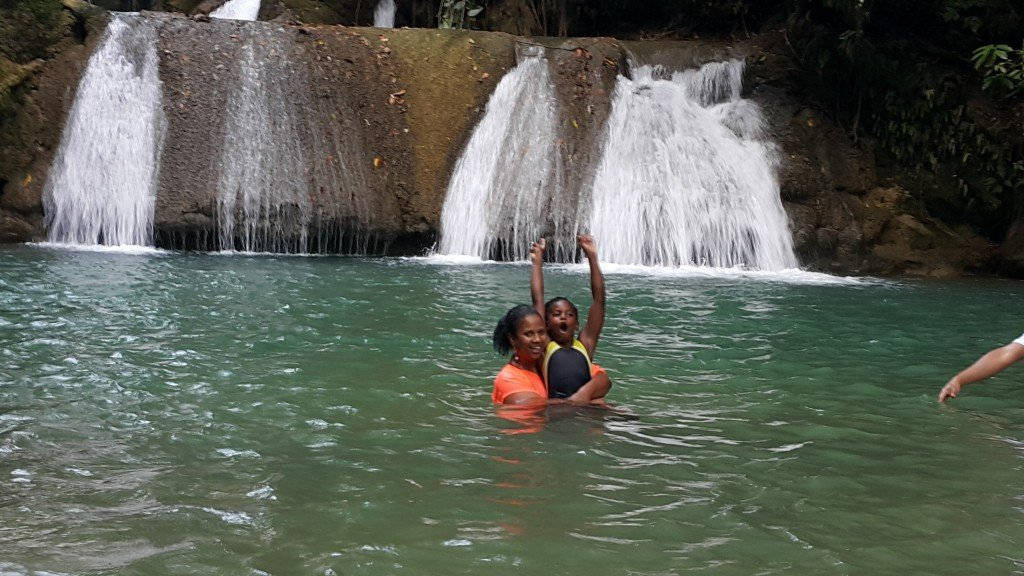 Swimming at YS Falls