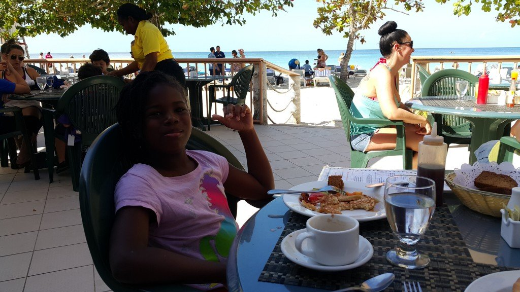 Breakfast on the 7 Mile Beach Negril
