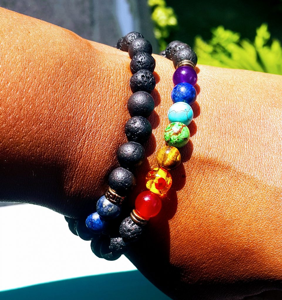 Rainbow Stone Beaded Bracelets with Lava Beads Review Kilem Kollectibles