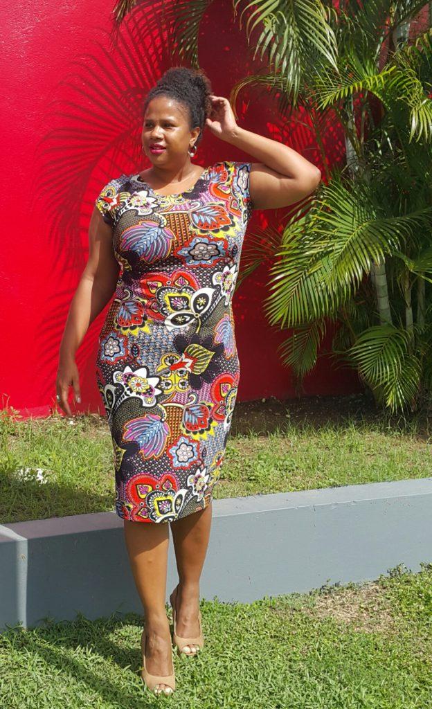 paisley printed sheath dress