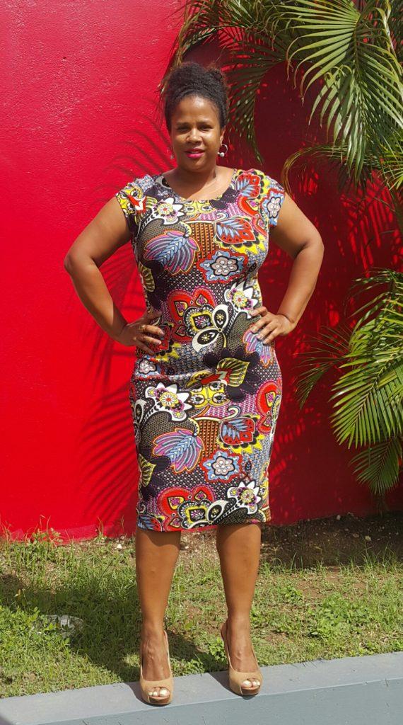 printed paisley bodycon dress
