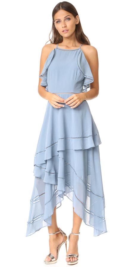Pretty light blue ruffle dress