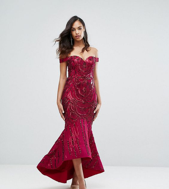 Vavavoom Sequin Red Party Dress