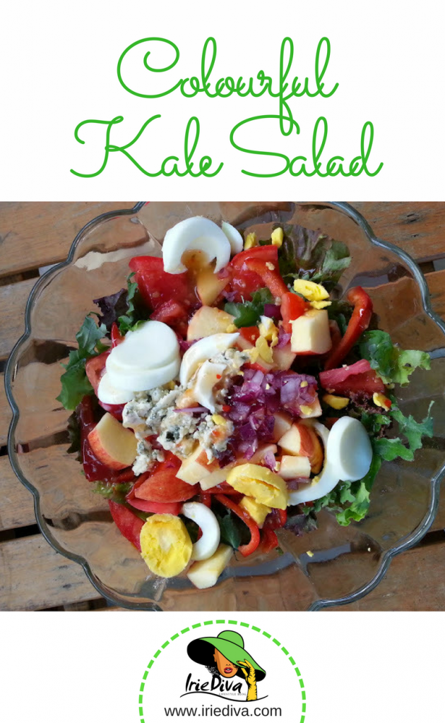 A colourful kale salad recipe, bursting with sweet, salty and crunchy flavours.