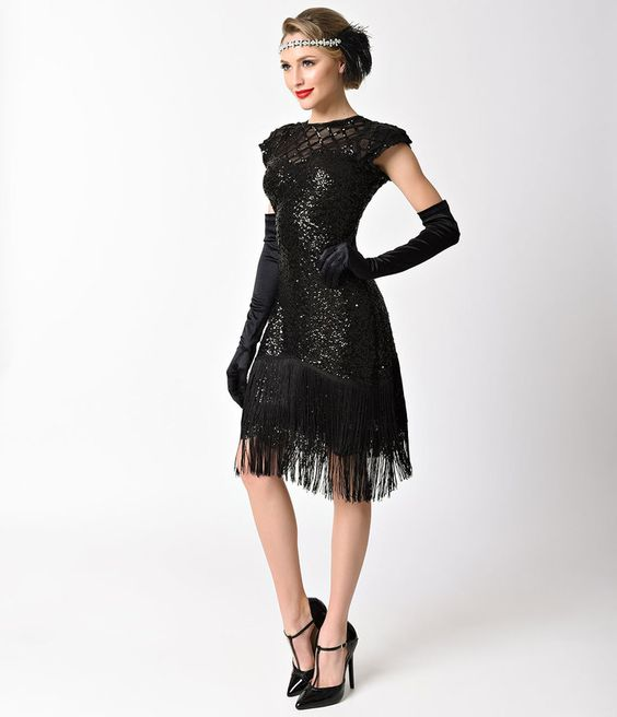 Vintage Flapper Style Holiday Dresses