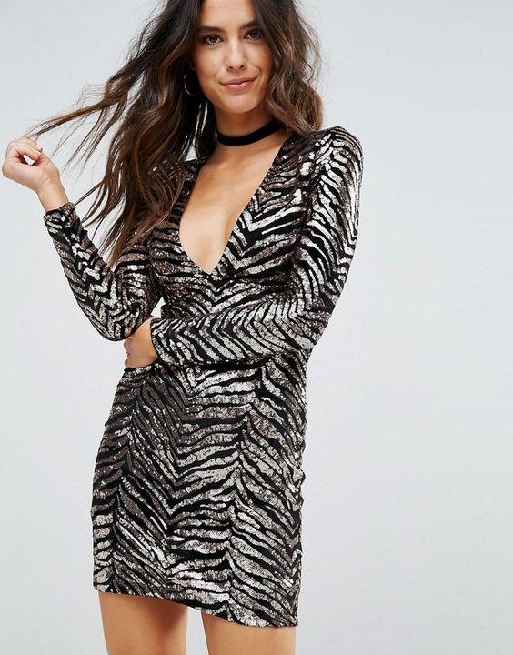 Shiny animal print party dress