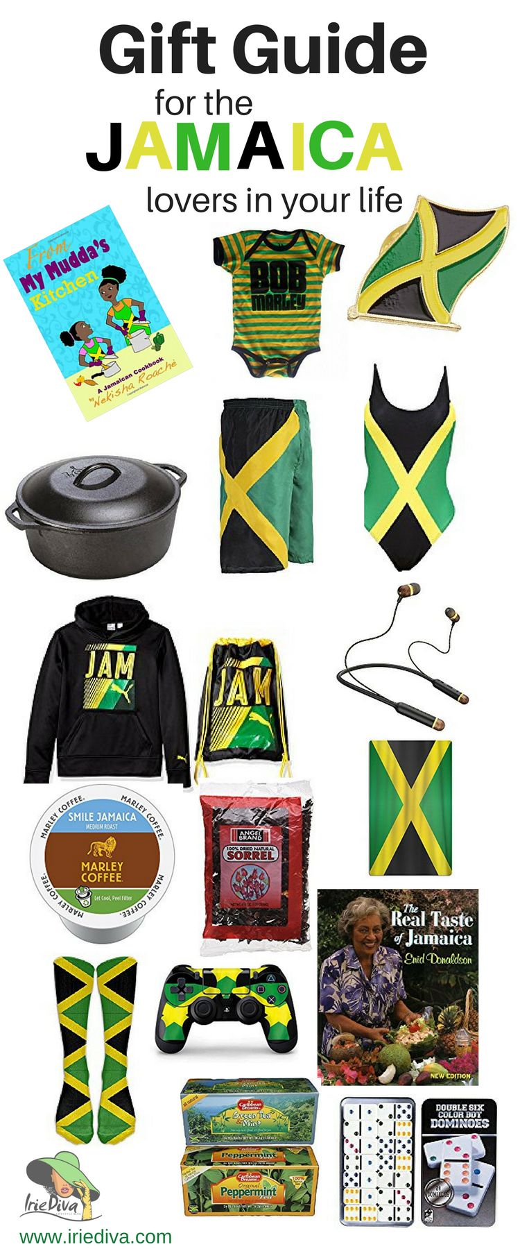Gift ideas for the Jamaican in your life! If you're looking for Jamaican souvenirs or presents to buy for a Jamaican, this gift guide written by a local will guide you to the perfect gifts! Great for birthday, souvenir or Christmas gifts