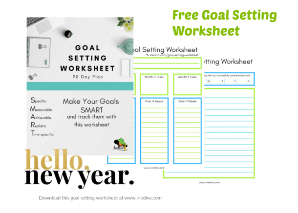 Goal Setting Worksheet Free Printable