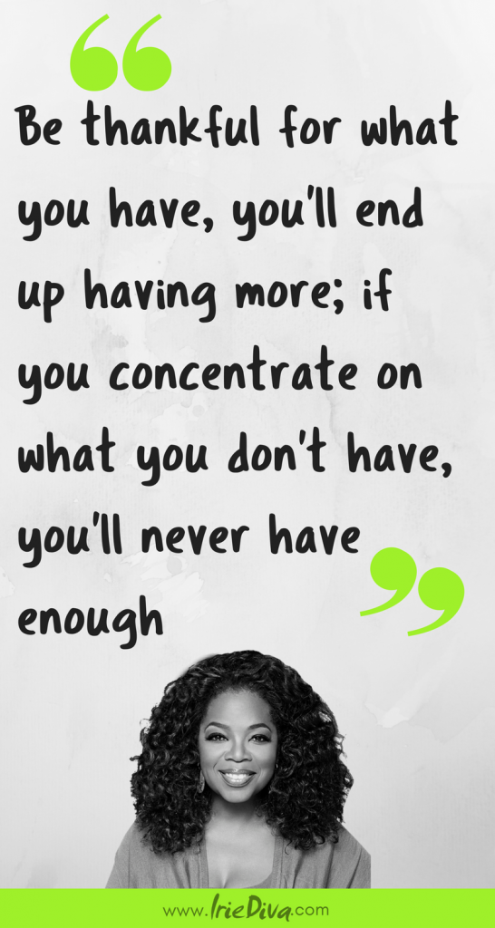 Oprah Winfrey quote on gratitude. 28 Days of Thanks Challenge #GratitudeChallenge #Gratitude Express Gratitude Everyday