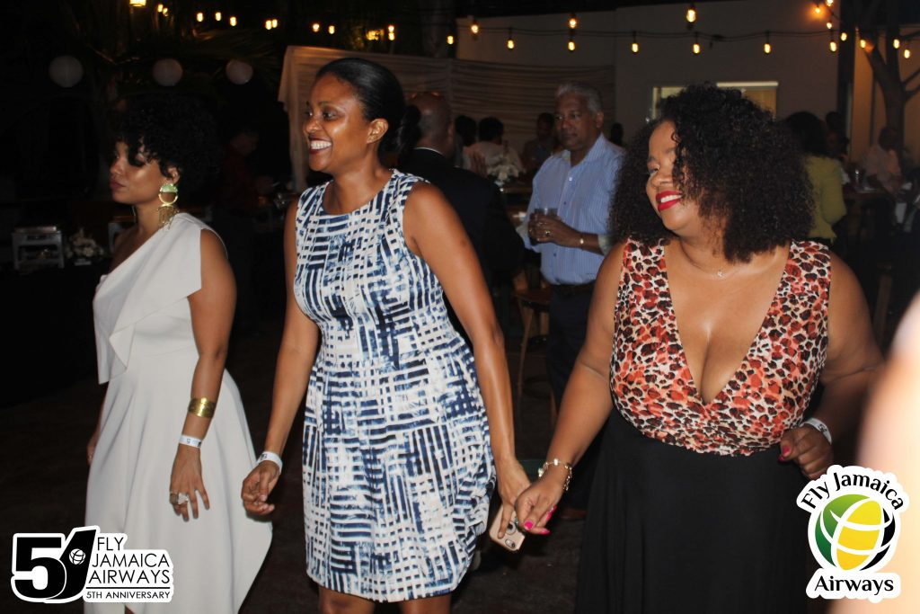 Dancing at the Fly Jamaica 5th Anniversary Cocktail Party