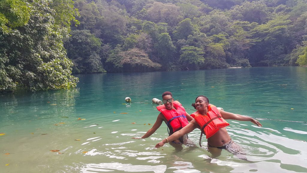 Swimming in the Blue Lagoon, Jamaica