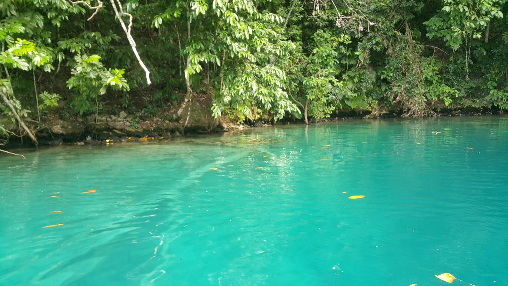 The depth of Blue Lagoon Jamaica