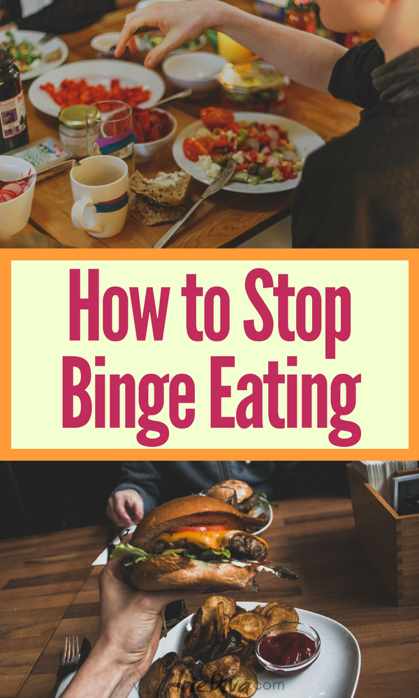How to overcome binge eating - stop overeating with these healthy eating habits.
