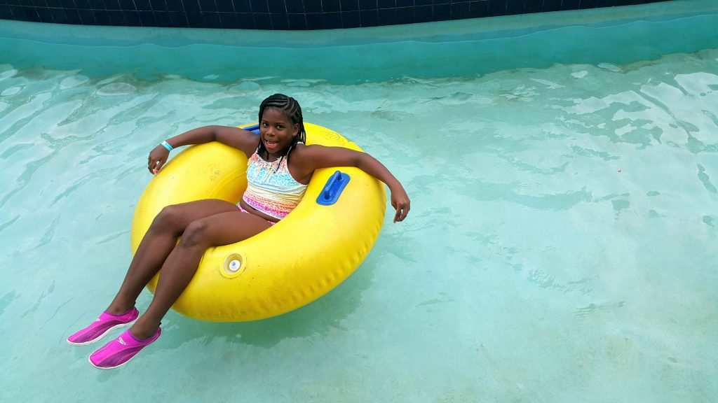 Munchkin in the Lazy River at Kool Runnings Water Park Negril