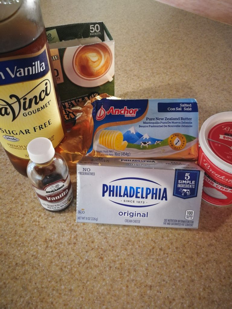 Ingredients for low carb cheesecake fillings