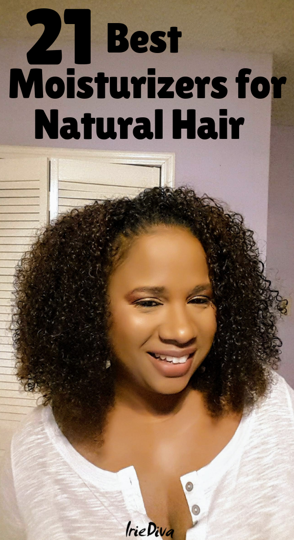 The 21 best moisturizers for natural hair. If you suffer from dry natural hair, try one of these moisturizing natural hair products and learn how to properly moisturize natural hair. #naturalhair #curlyhair #moisturizer #hair