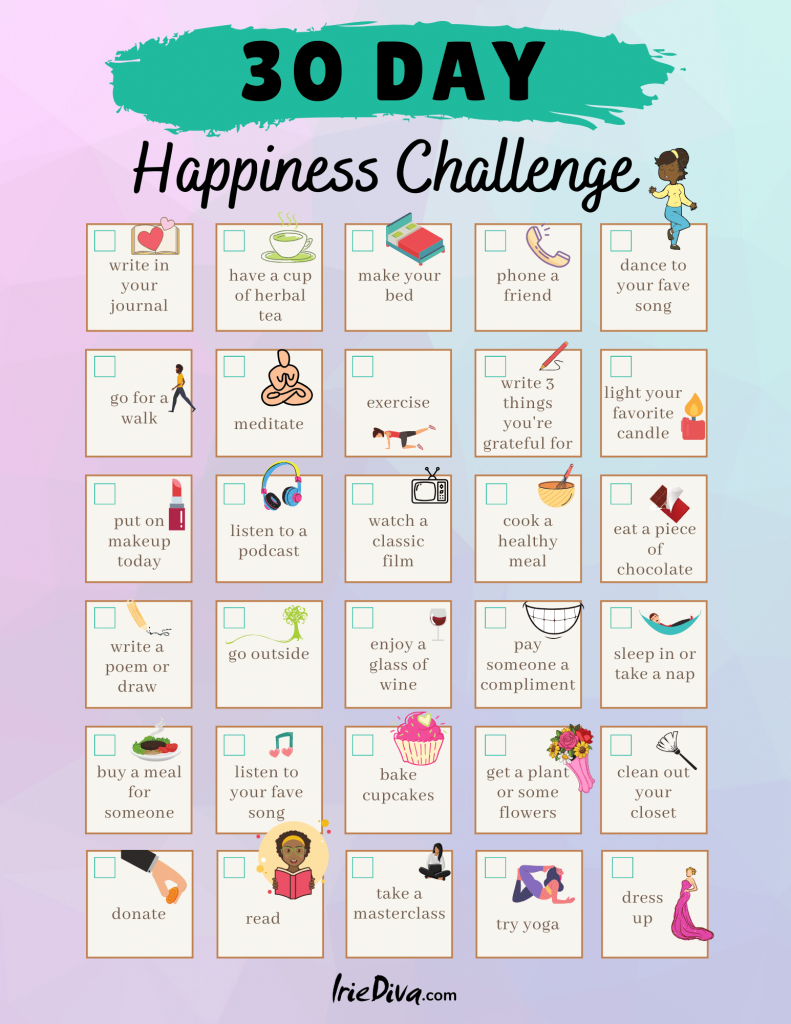 30 days of happiness challenge