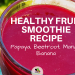 y favourite way to get in my beets, a papaya beetroot smoothie!